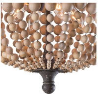 Regina Andrew 16-1162 Wood Beaded 4 Light 18 inch Natural Semi Flush Mount Ceiling Light alternative photo thumbnail