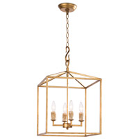 Regina Andrew 16-1170AGL Cape 4 Light 14 inch Antique Gold Leaf Ceiling Lantern Ceiling Light Small