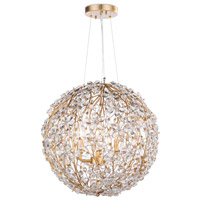 Regina Andrew 16-1184GL Cheshire 6 Light 20 inch Gold Leaf Chandelier Ceiling Light Small