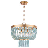 Regina Andrew 16-1190 Summer 4 Light 16 inch Blue Chandelier Ceiling Light Small
