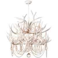 Regina Andrew 16-1203 Cheyanne Antler 12 Light 33 inch White Chandelier Ceiling Light
