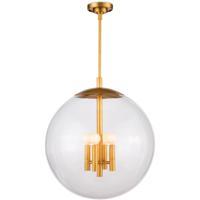 Regina Andrew 16-1248NB Cafe 4 Light 20 inch Natural Brass Pendant Ceiling Light Large