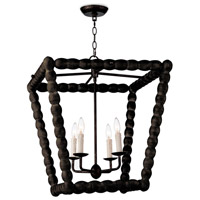Regina Andrew 16-1254EB Coastal Living Perennial 4 Light 23 inch Ebony Ceiling Lantern Ceiling Light