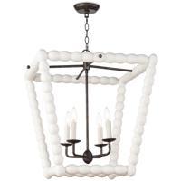Regina Andrew 16-1254WT Coastal Living Perennial 4 Light 23 inch White Ceiling Lantern Ceiling Light