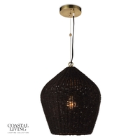 Regina Andrew 16-1261BLK Coastal Living Georgian 1 Light 16 inch Black Pendant Ceiling Light