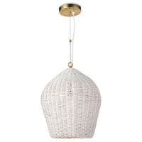 Regina Andrew 16-1261WT Coastal Living Georgian 1 Light 16 inch White Pendant Ceiling Light