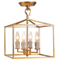 Regina Andrew 16-1268AGL Cape 4 Light 11 inch Antique Gold Leaf Ceiling Lantern Ceiling Light Extra Small