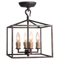 Regina Andrew 16-1268BI Cape 4 Light 11 inch Blackened Iron Ceiling Lantern Ceiling Light Extra Small