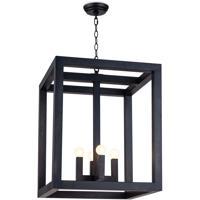 Regina Andrew 16-1280 Ambassador 4 Light 20 inch Blackened Iron Ceiling Lantern Ceiling Light Large