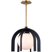 Regina Andrew 16-1284BLK Boss 1 Light 16 inch Black Pendant Ceiling Light