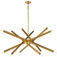 Regina Andrew 16-1289NB Viper 12 Light 41 inch Natural Brass Chandelier Ceiling Light
