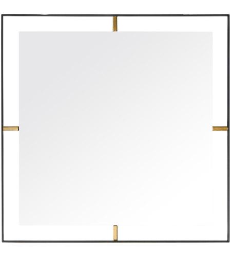 Rogue Decor Company 610020 Framed 20 X 20 inch Matte Black Wall Mirror