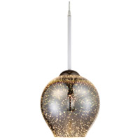 Rogue Decor Company 610210 Spacey 1 Light 9 inch Polished Chrome Mini Pendant Ceiling Light photo thumbnail