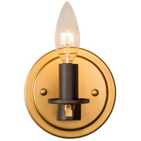 Rogue Decor Company 610400 Elwood 1 Light 5 inch Antique Gold with Rustic Bronze Bath Vanity Wall Light