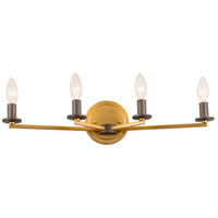 Rogue Decor Company 610430 Elwood 4 Light 23 inch Antique Gold with Rustic Bronze Bath Vanity Wall Light