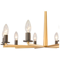 Rogue Decor Company 610460 Elwood 10 Light 24 inch Antique Gold with Rustic Bronze Chandelier Ceiling Light alternative photo thumbnail