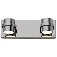 Rogue Decor Company 610810 Twocan LED 13 inch Polished Chrome Bath Vanity Wall Light