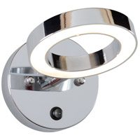 Halo LED 8 inch Polished Chrome Vanity Wall Light
