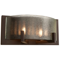 Firefly 2 Light 11 inch Industrial Bronze Bath Vanity Wall Light
