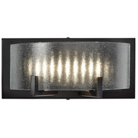 Firefly LED 11 inch Warm Bronze Vanity Wall Light, Micro-Texture Glass
