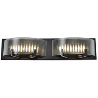 Firefly LED 22 inch Warm Bronze Vanity Wall Light, Micro-Texture Glass