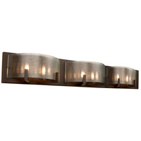 Firefly 6 Light 33 inch Industrial Bronze Bath Vanity Wall Light