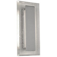 Rogue Decor Company 611360 Royal Pane LED 10 inch Satin Nickel Vanity Light Wall Light