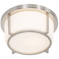Smart 1 Light 10 inch Satin Nickel Flush Mount Ceiling Light