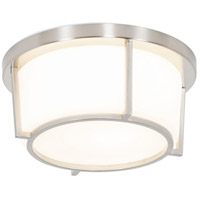 Rogue Decor Company 611410 Smart LED 10 inch Satin Nickel Flush Mount Ceiling Light