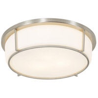 Smart 2 Light 13 inch Satin Nickel Flush Mount Ceiling Light