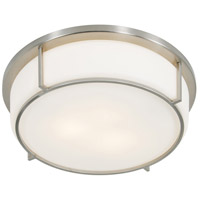 Rogue Decor Company 611440 Smart 3 Light 17 inch Satin Nickel Flush Mount Ceiling Light