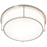 Rogue Decor Company 611450 Smart LED 17 inch Satin Nickel Flush Mount Ceiling Light
