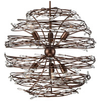Rogue Decor Company 611560 Offshoot 6 Light 25 inch Bronze Pendant Ceiling Light Premium Pre-Installed Crystal