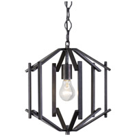 Offset 1 Light 12 inch Forged Iron Pendant Ceiling Light