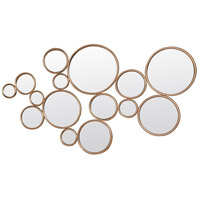 Framed Circles 52 X 30 inch Antique Gold Wall Mirror Home Decor