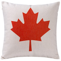 Rogue Decor Company 18 inch Red and White Throw Pillow Case