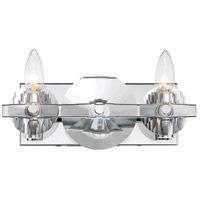 Engeared 2 Light 12 inch Chrome Bar Vanity Wall Light