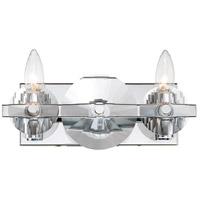 Rogue Decor Company 612200 Engeared 2 Light 12 inch Chrome Bar Vanity Wall Light
