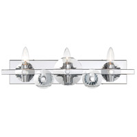 Engeared 3 Light 21 inch Chrome Bar Vanity Wall Light