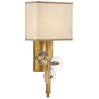 Engeared 1 Light 8 inch Antiqued Gold Leaf ADA Wall Sconce Wall Light