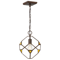 Rogue Decor Company 612410 Cubert 1 Light 11 inch Rustic Bronze Pendant Ceiling Light