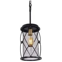 Harlequin 1 Light 7 inch Warm Bronze and Gold Pendant Ceiling Light