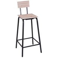 Nell 38 inch Black and Rustic Bar Stool
