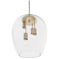 Rogue Decor Company 613000 Vino 4 Light 14 inch Antique Brass Foyer Pendant Ceiling Light