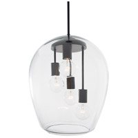 Rogue Decor Company 613010 Vino 4 Light 14 inch Black Foyer Pendant Ceiling Light