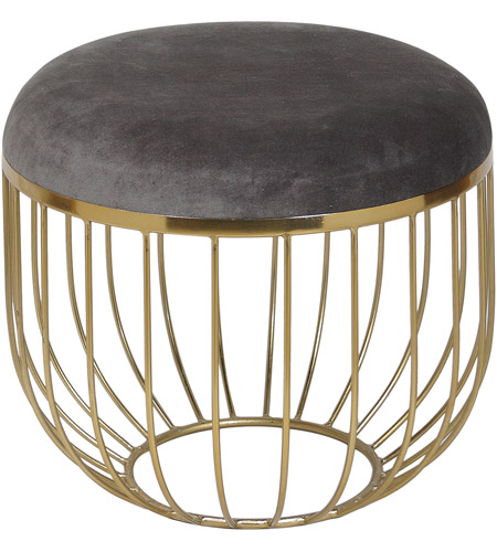 Awe Inspiring Renwil Cha043 Durbow 17 Inch Brass Stool Small Uwap Interior Chair Design Uwaporg