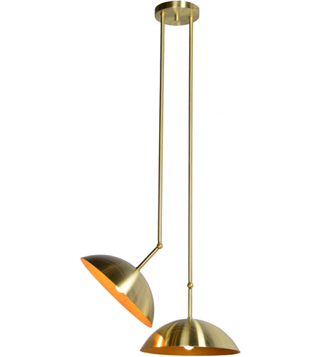 Renwil LPC4106 Weald 2 Light 20 inch Gold Pendant Ceiling Light