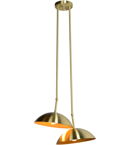 Renwil LPC4106 Weald 2 Light 20 inch Gold Pendant Ceiling Light LPC4106_angle.jpg