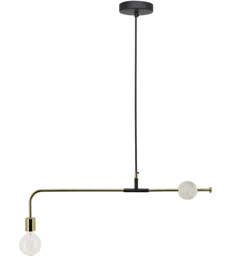 renwil lpc4157 fairfax led 31 inch shiny brass and antique zinc with