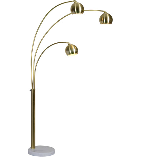 83 Inch 40 Watt Satin Br Floor Lamp